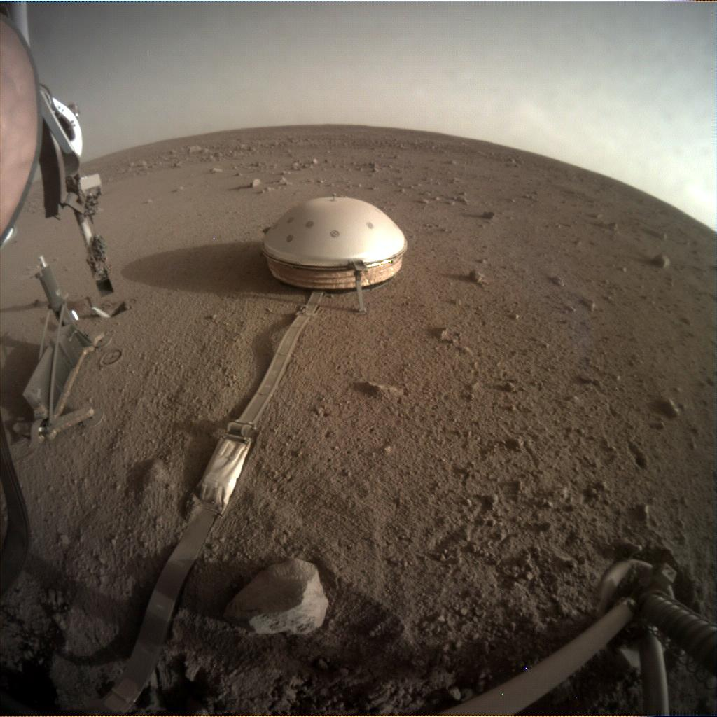 Nasa's Mars lander InSight acquired this image using its Instrument Context Camera on Sol 427