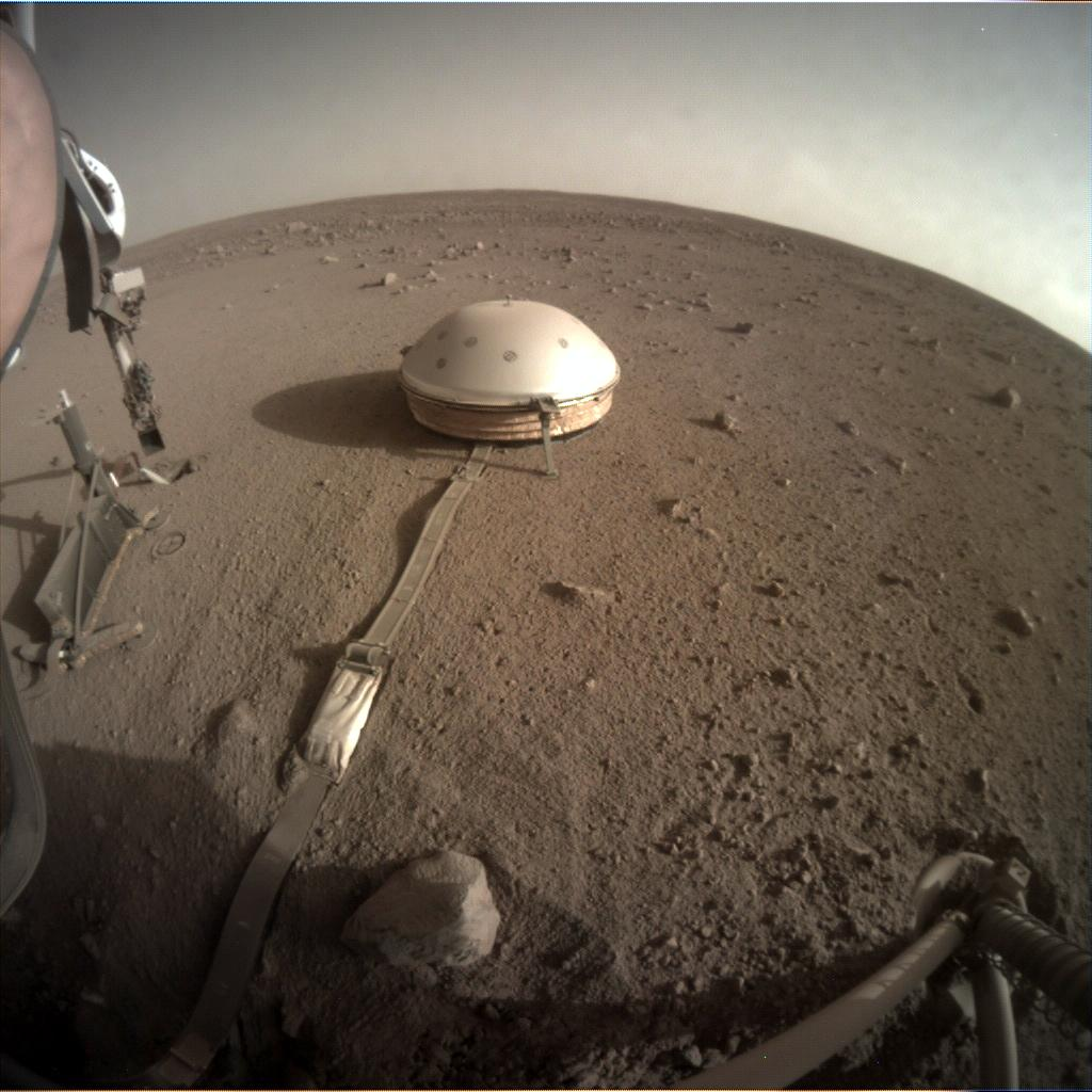 Nasa's Mars lander InSight acquired this image using its Instrument Context Camera on Sol 428