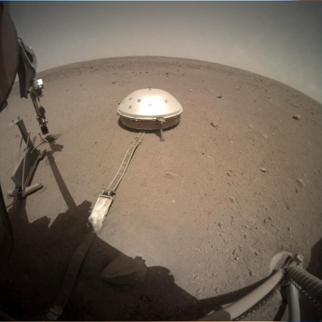 Nasa's Mars lander InSight acquired this image using its Instrument Context Camera on Sol 429