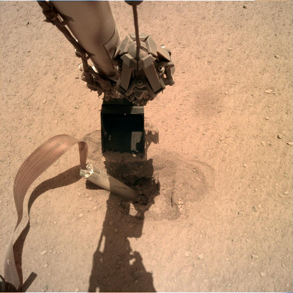 Nasa's Mars lander InSight acquired this image using its Instrument Deployment Camera on Sol 429