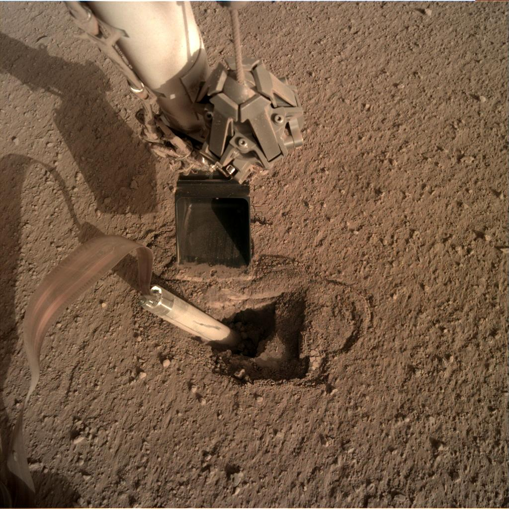 Nasa's Mars lander InSight acquired this image using its Instrument Deployment Camera on Sol 430