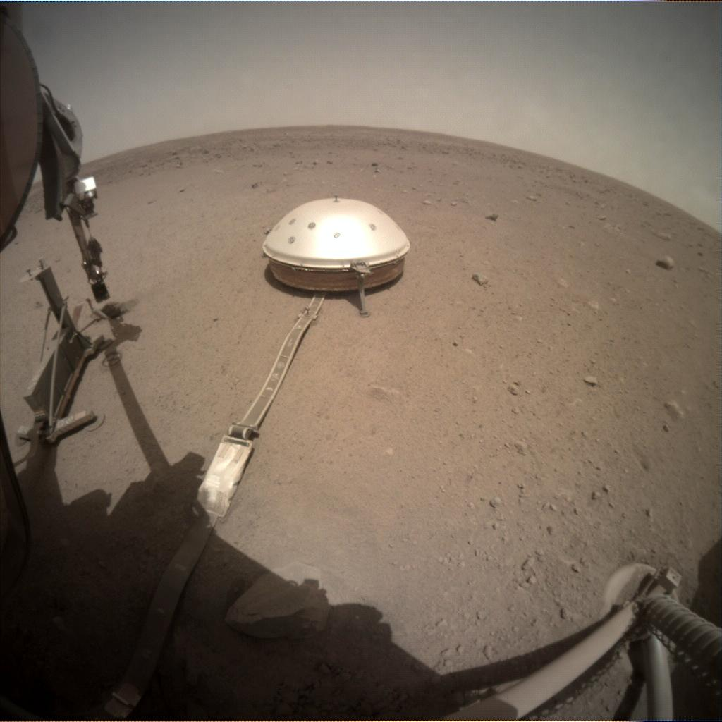 Nasa's Mars lander InSight acquired this image using its Instrument Context Camera on Sol 433