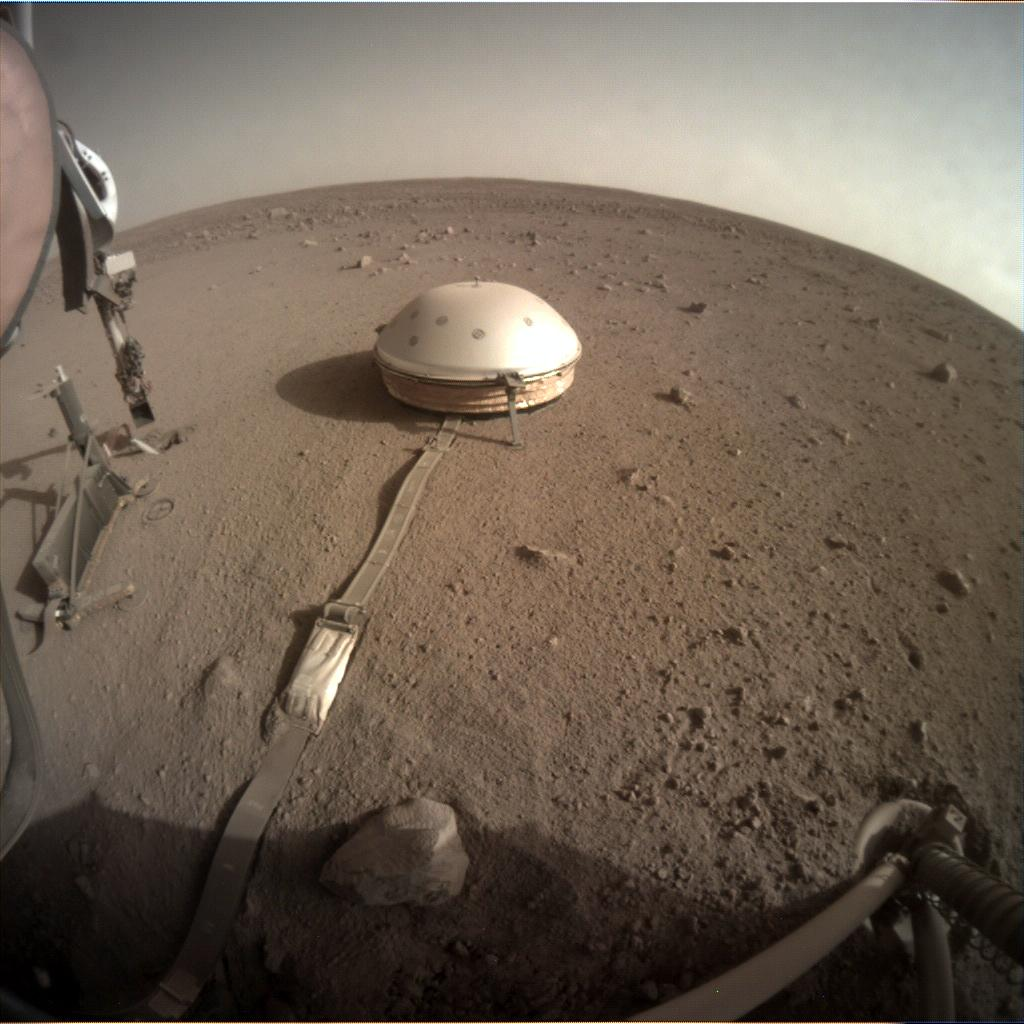 Nasa's Mars lander InSight acquired this image using its Instrument Context Camera on Sol 434