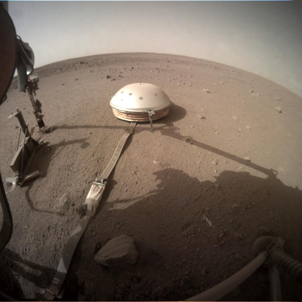 Nasa's Mars lander InSight acquired this image using its Instrument Context Camera on Sol 435