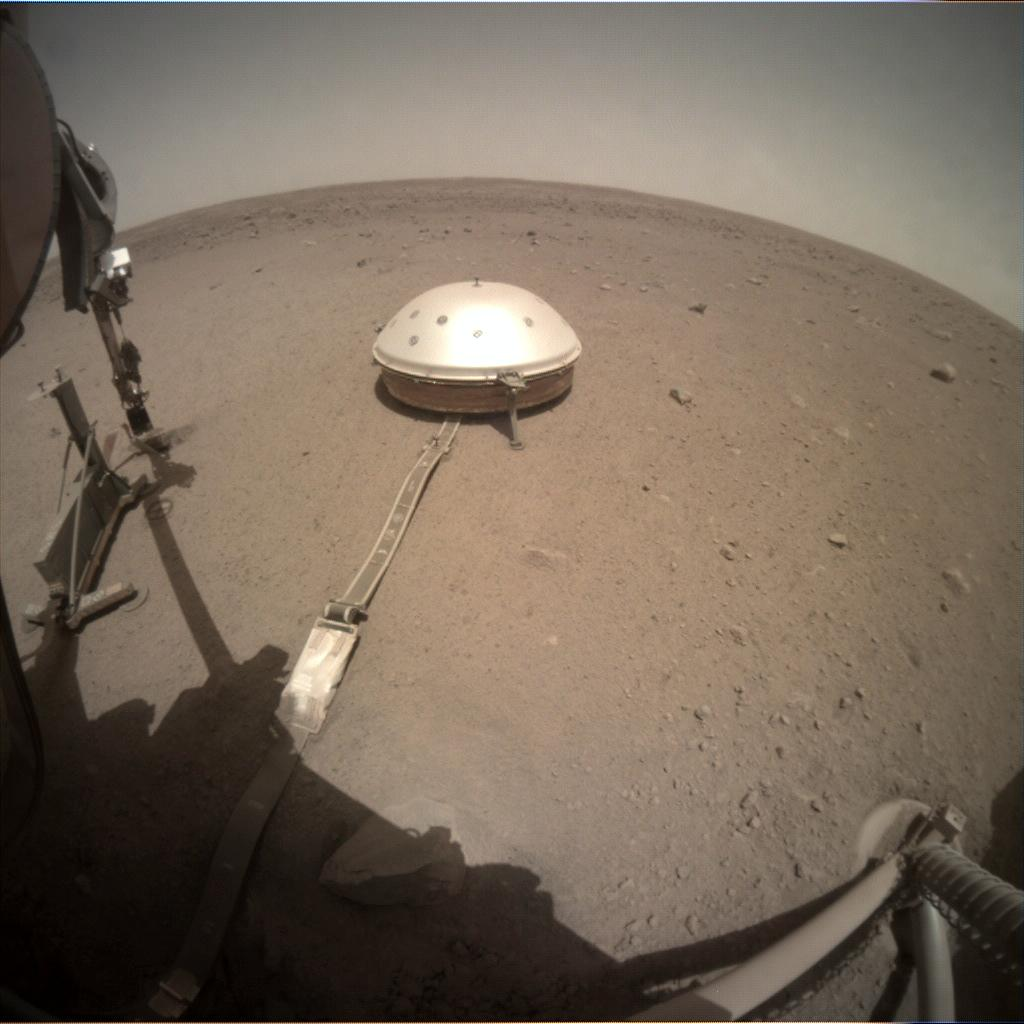 Nasa's Mars lander InSight acquired this image using its Instrument Context Camera on Sol 436
