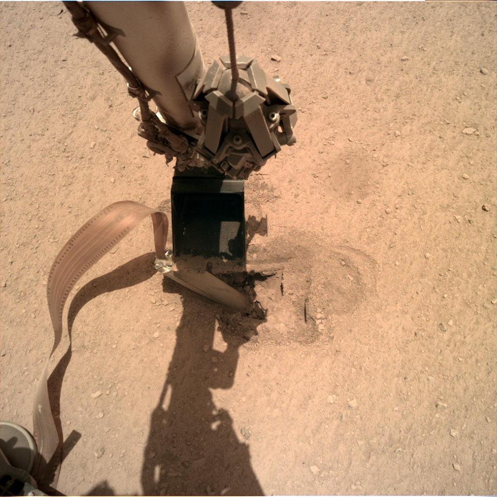 Nasa's Mars lander InSight acquired this image using its Instrument Deployment Camera on Sol 436