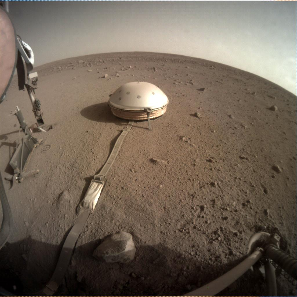Nasa's Mars lander InSight acquired this image using its Instrument Context Camera on Sol 437