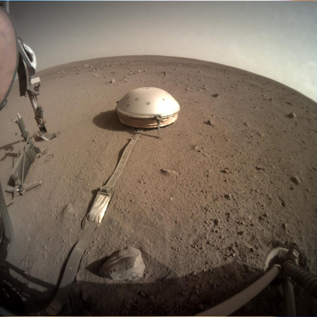 Nasa's Mars lander InSight acquired this image using its Instrument Context Camera on Sol 441