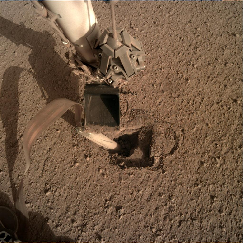 Nasa's Mars lander InSight acquired this image using its Instrument Deployment Camera on Sol 441
