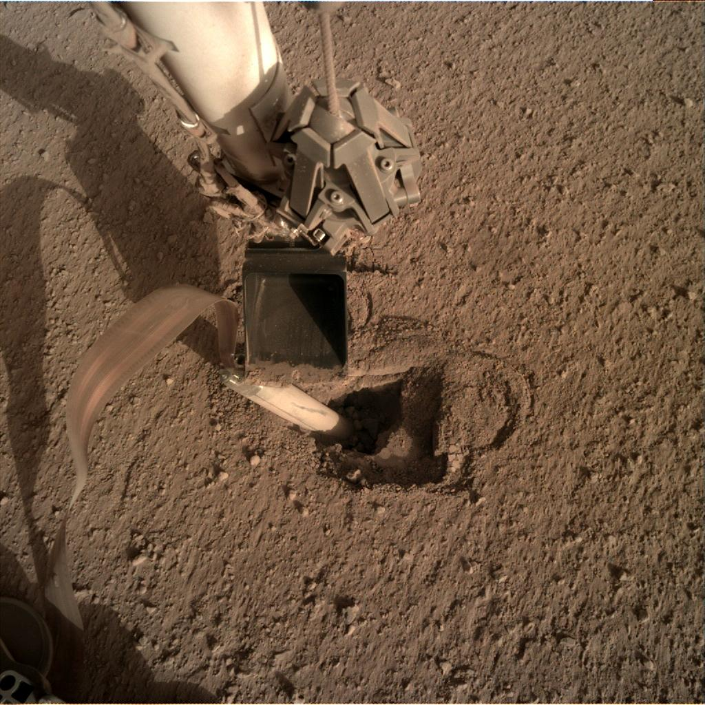 Nasa's Mars lander InSight acquired this image using its Instrument Deployment Camera on Sol 442