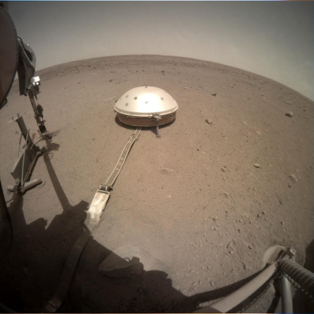 Nasa's Mars lander InSight acquired this image using its Instrument Context Camera on Sol 443