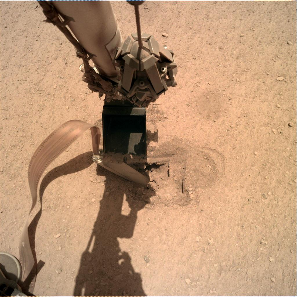 Nasa's Mars lander InSight acquired this image using its Instrument Deployment Camera on Sol 443