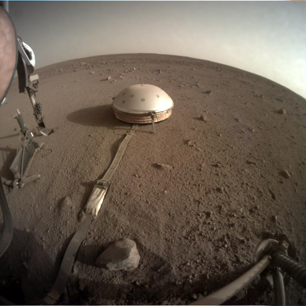Nasa's Mars lander InSight acquired this image using its Instrument Context Camera on Sol 446