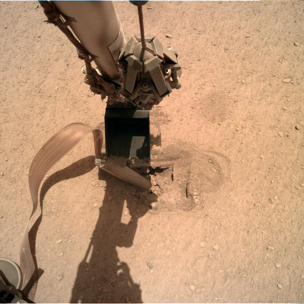 Nasa's Mars lander InSight acquired this image using its Instrument Deployment Camera on Sol 447