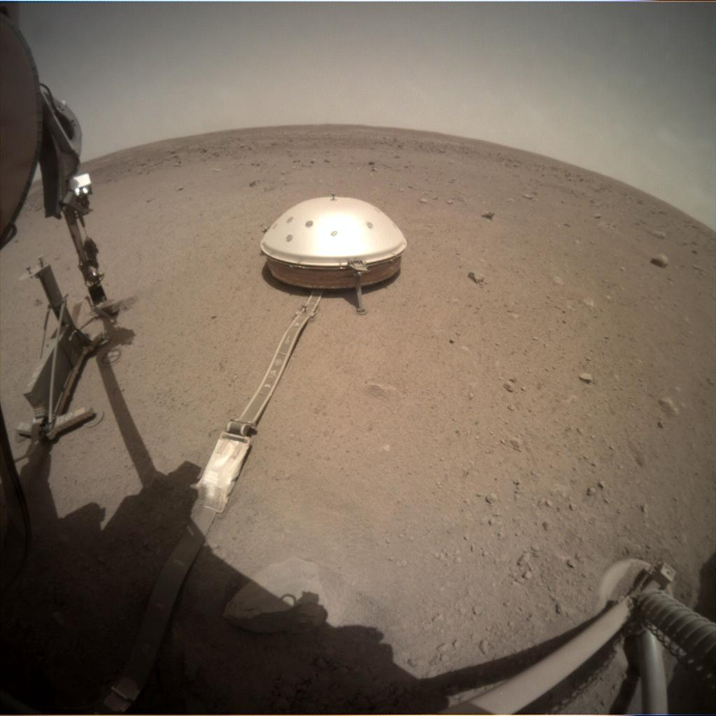 Nasa's Mars lander InSight acquired this image using its Instrument Context Camera on Sol 448