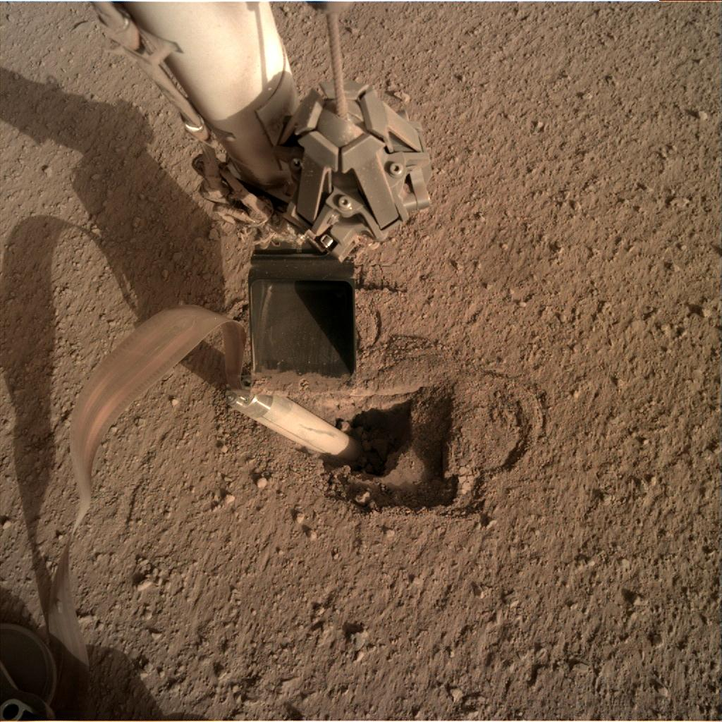 Nasa's Mars lander InSight acquired this image using its Instrument Deployment Camera on Sol 448