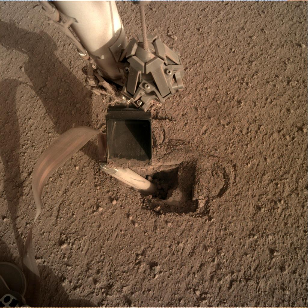 Nasa's Mars lander InSight acquired this image using its Instrument Deployment Camera on Sol 449