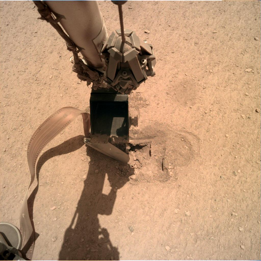 Nasa's Mars lander InSight acquired this image using its Instrument Deployment Camera on Sol 450