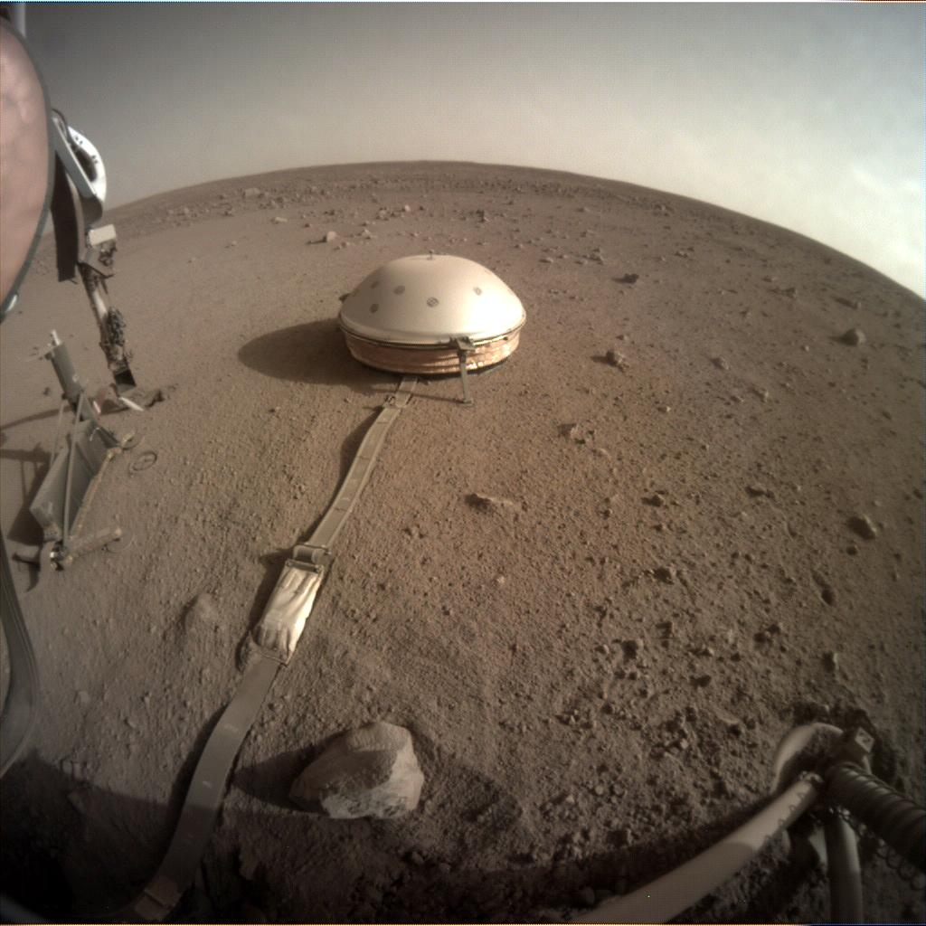 Nasa's Mars lander InSight acquired this image using its Instrument Context Camera on Sol 451