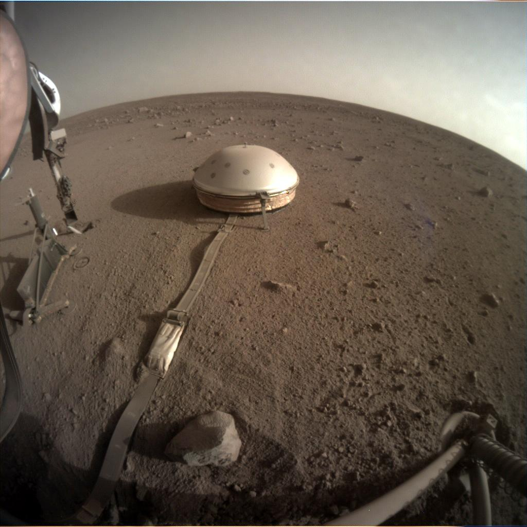 Nasa's Mars lander InSight acquired this image using its Instrument Context Camera on Sol 455