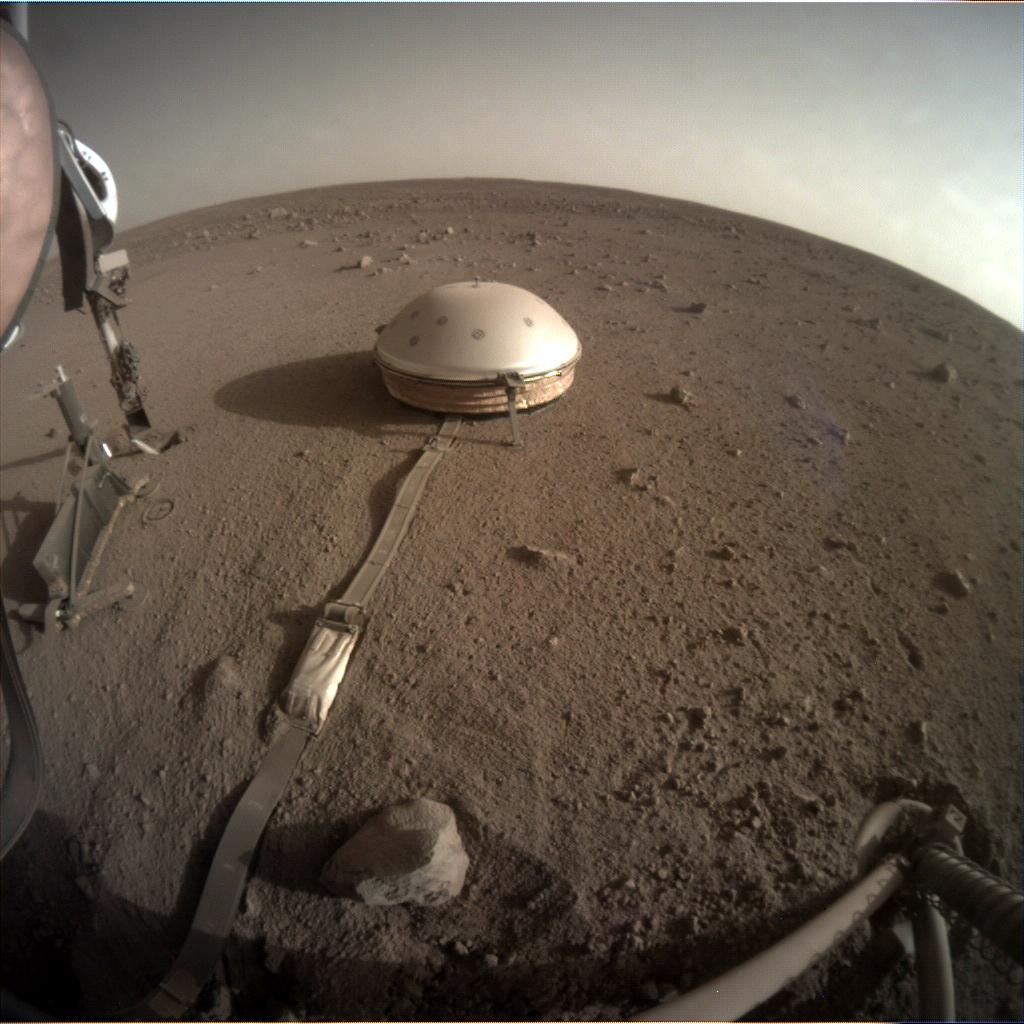 Nasa's Mars lander InSight acquired this image using its Instrument Context Camera on Sol 457