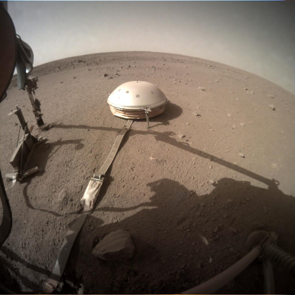 Nasa's Mars lander InSight acquired this image using its Instrument Context Camera on Sol 459