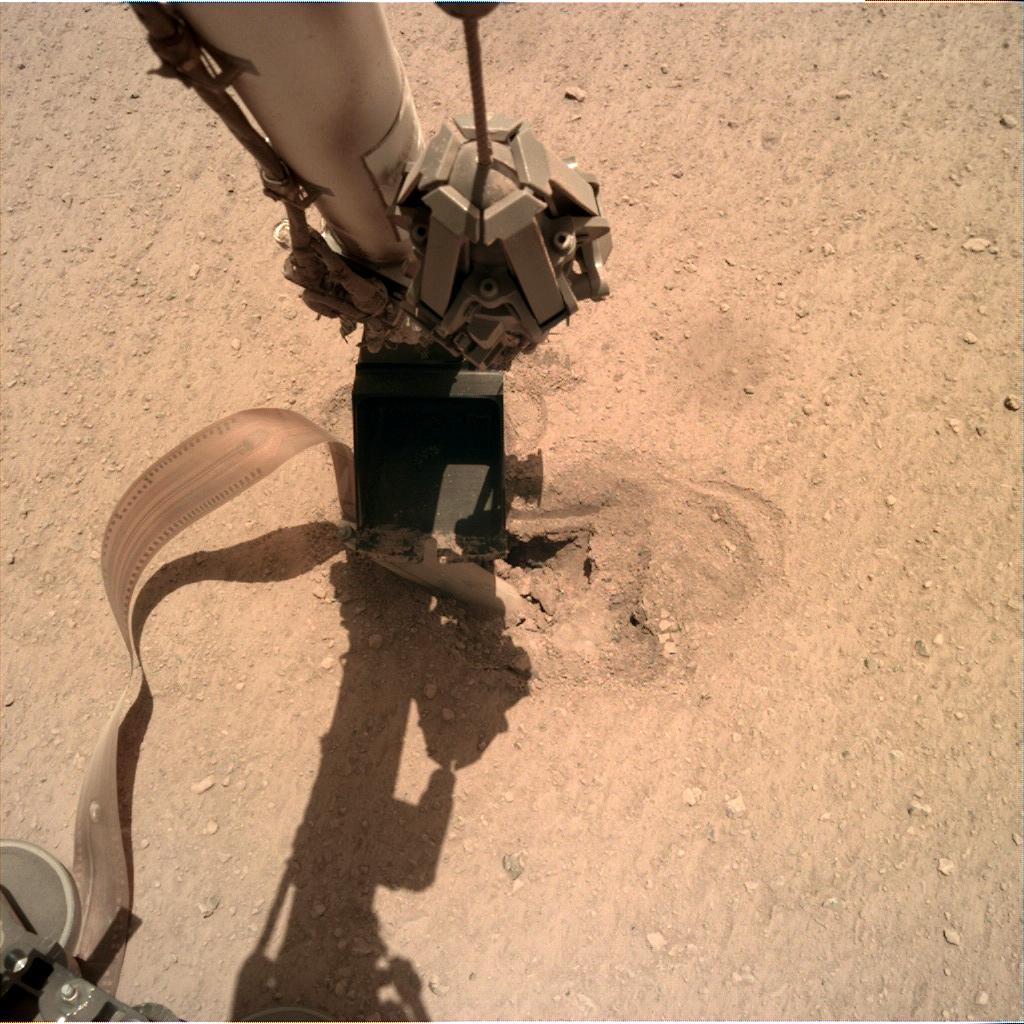 Nasa's Mars lander InSight acquired this image using its Instrument Deployment Camera on Sol 461