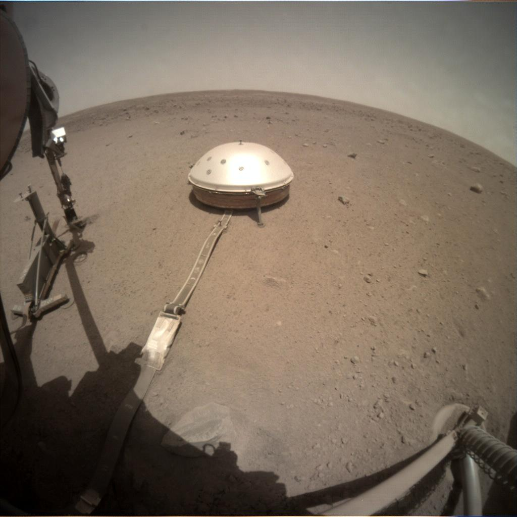 Nasa's Mars lander InSight acquired this image using its Instrument Context Camera on Sol 462