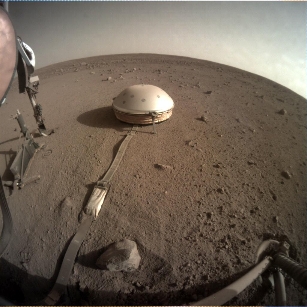 Nasa's Mars lander InSight acquired this image using its Instrument Context Camera on Sol 464