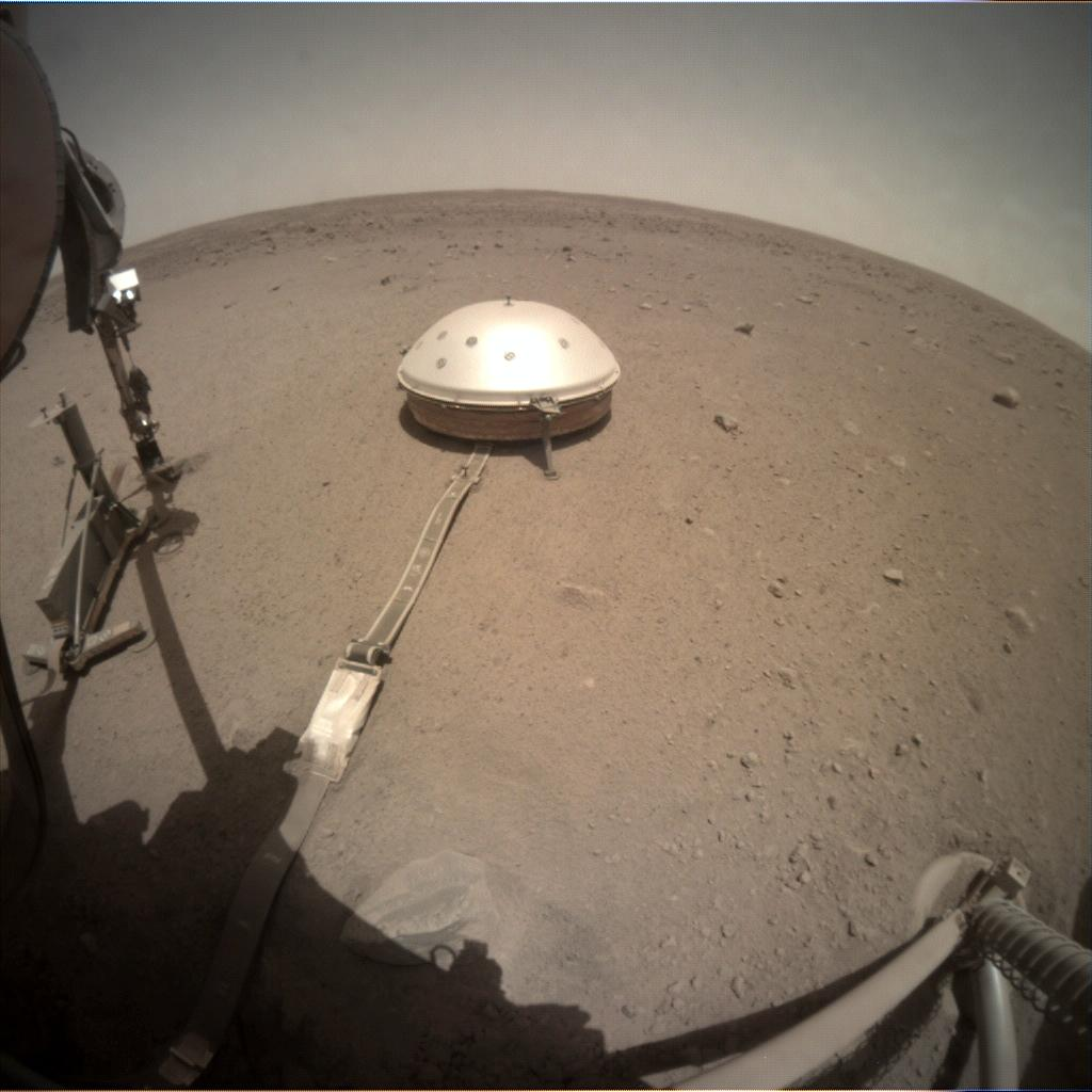 Nasa's Mars lander InSight acquired this image using its Instrument Context Camera on Sol 465