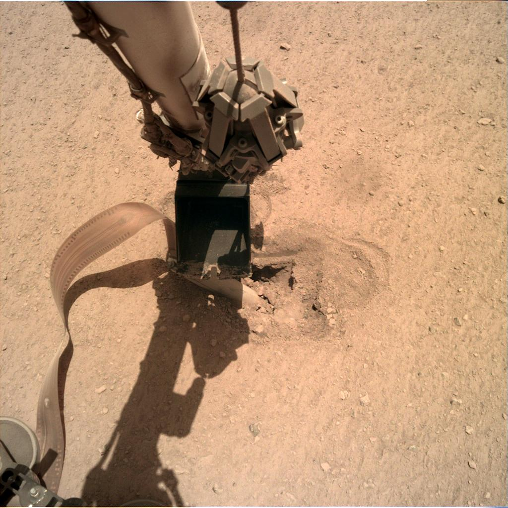 Nasa's Mars lander InSight acquired this image using its Instrument Deployment Camera on Sol 467