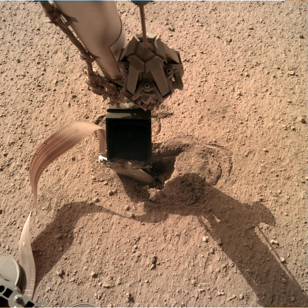 Nasa's Mars lander InSight acquired this image using its Instrument Deployment Camera on Sol 469
