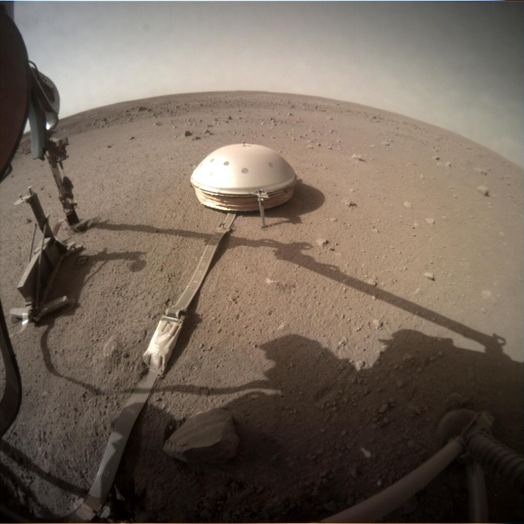 Nasa's Mars lander InSight acquired this image using its Instrument Context Camera on Sol 473