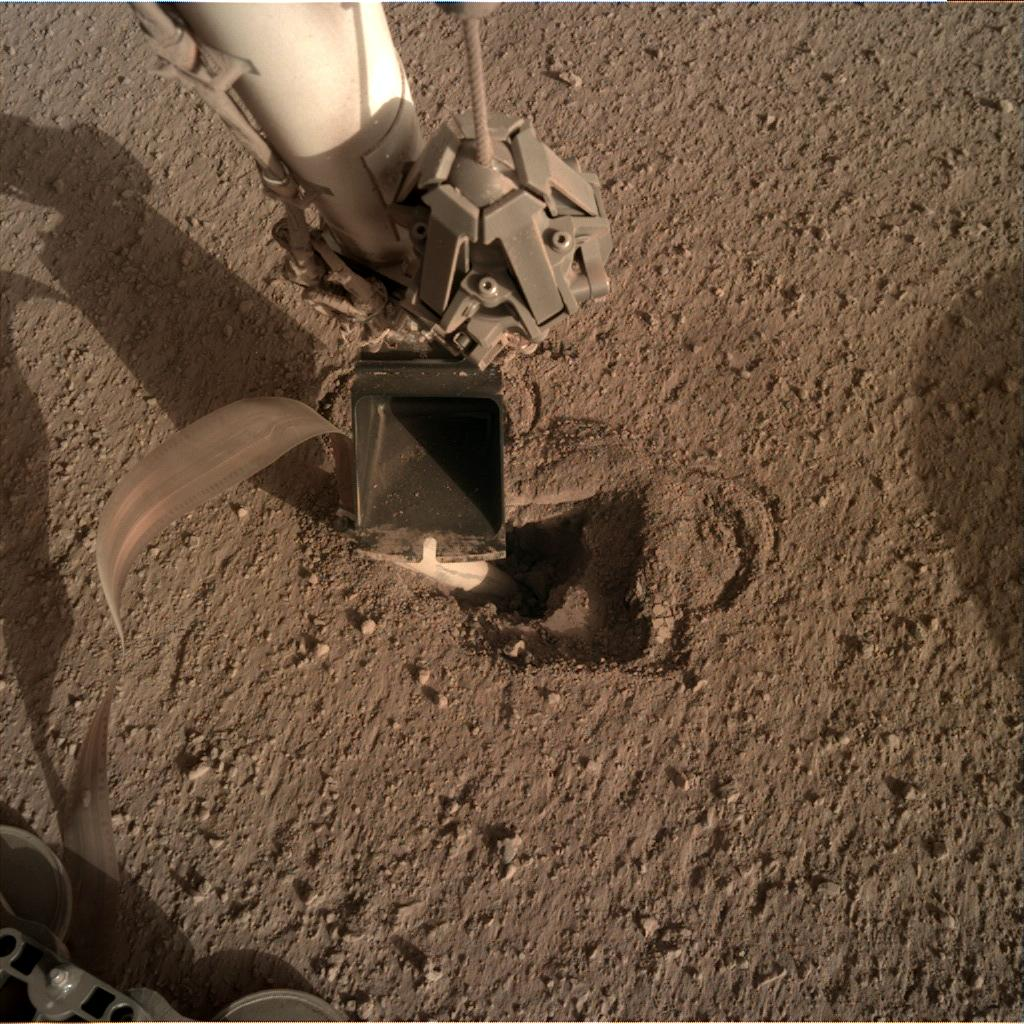 Nasa's Mars lander InSight acquired this image using its Instrument Deployment Camera on Sol 478