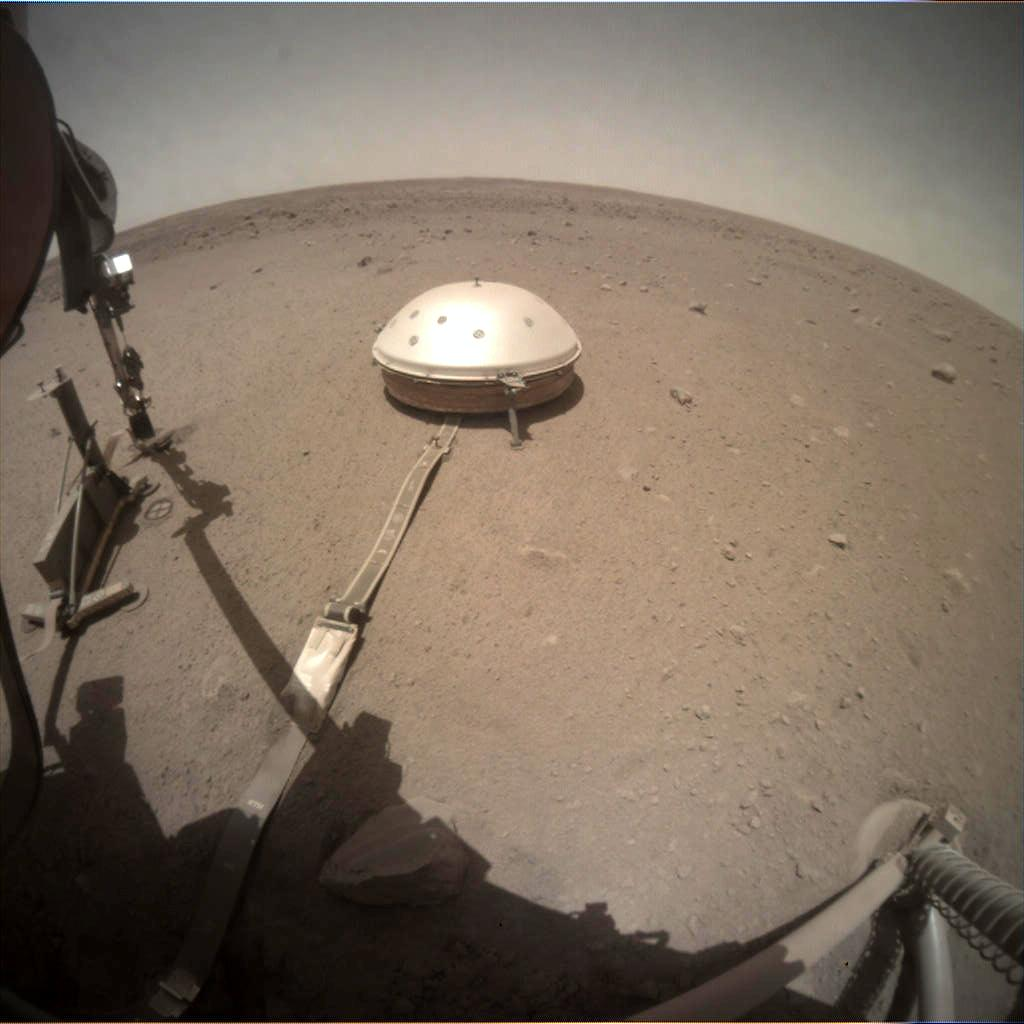 Nasa's Mars lander InSight acquired this image using its Instrument Context Camera on Sol 481