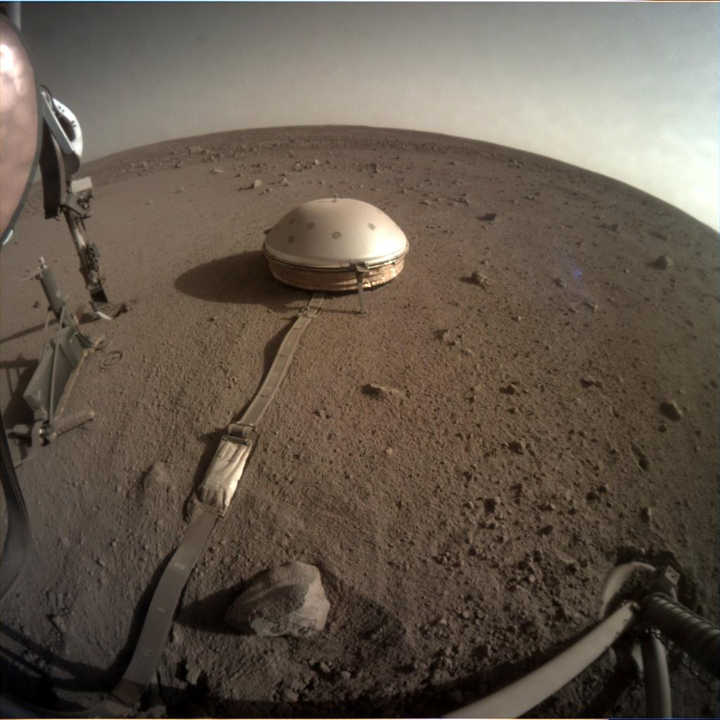 Nasa's Mars lander InSight acquired this image using its Instrument Context Camera on Sol 482