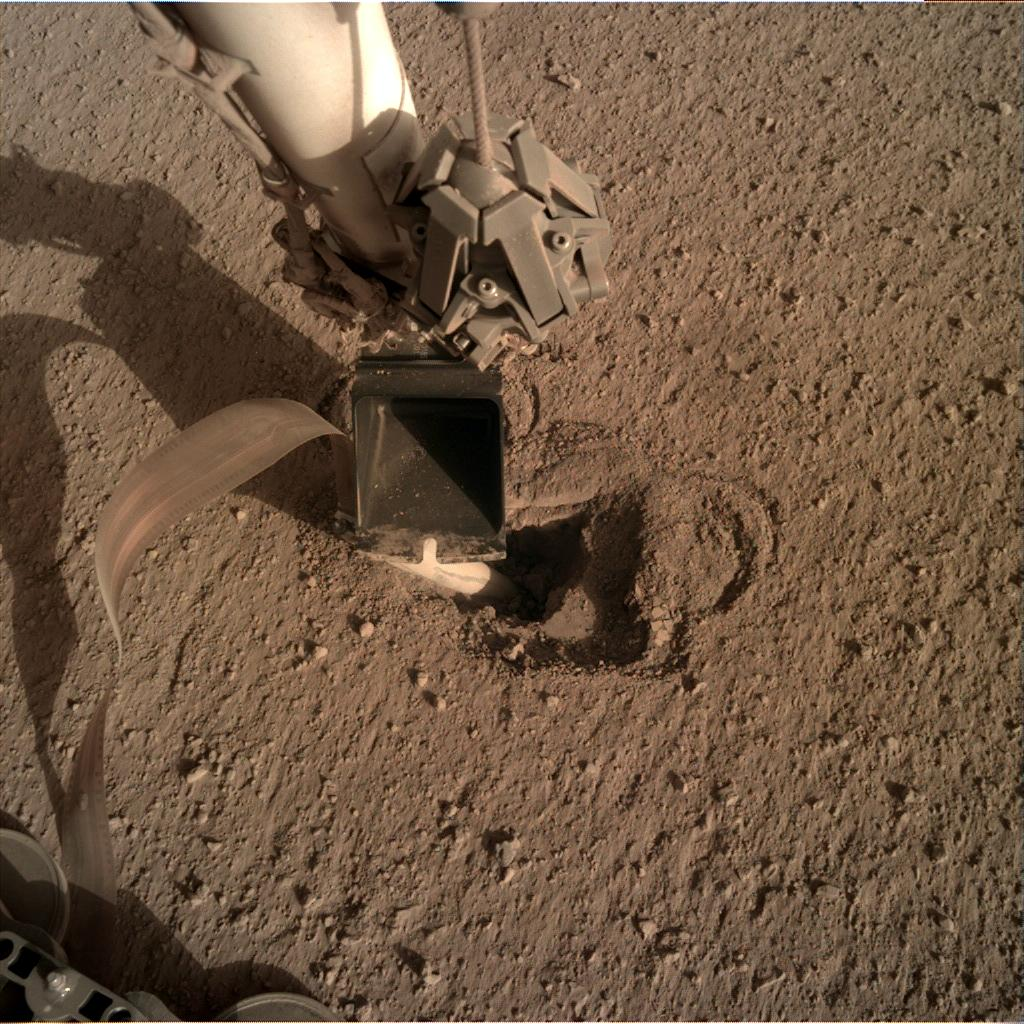 Nasa's Mars lander InSight acquired this image using its Instrument Deployment Camera on Sol 482
