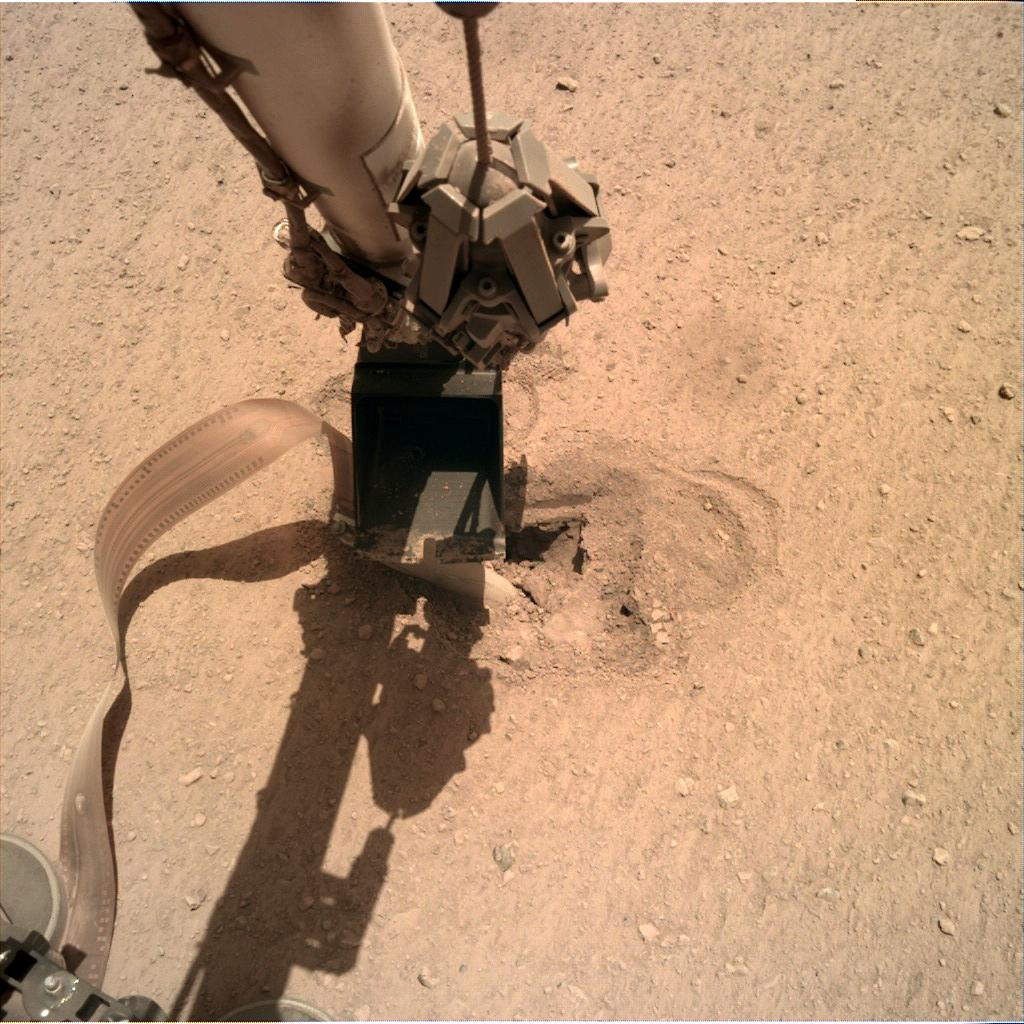 Nasa's Mars lander InSight acquired this image using its Instrument Deployment Camera on Sol 484