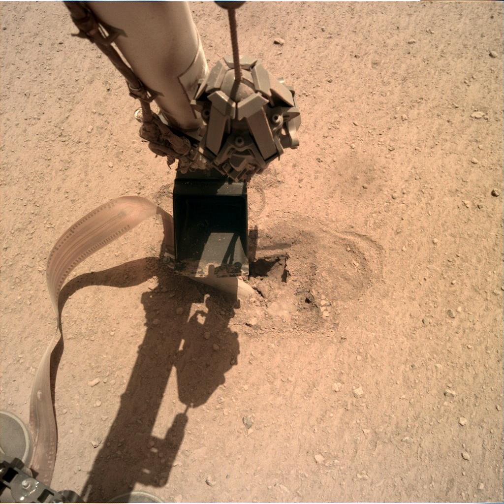 Nasa's Mars lander InSight acquired this image using its Instrument Deployment Camera on Sol 488