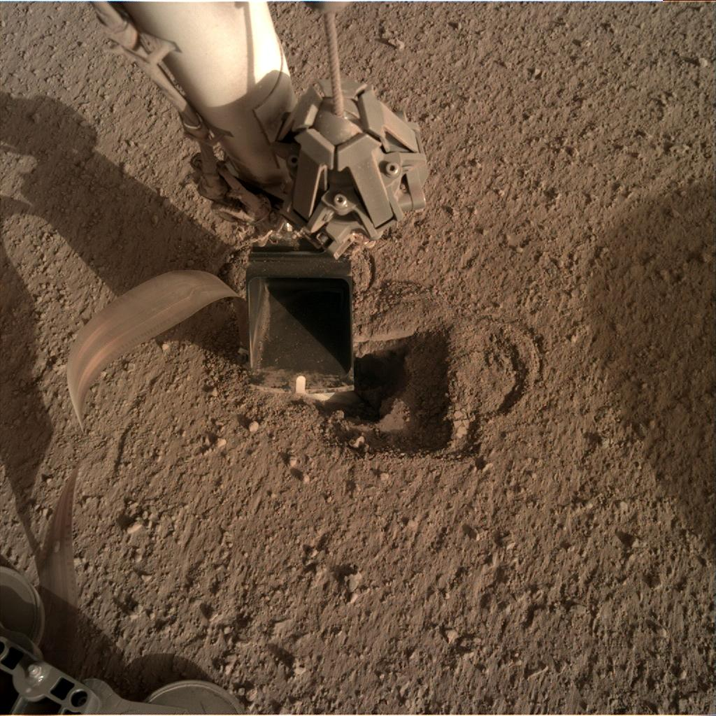 Nasa's Mars lander InSight acquired this image using its Instrument Deployment Camera on Sol 490