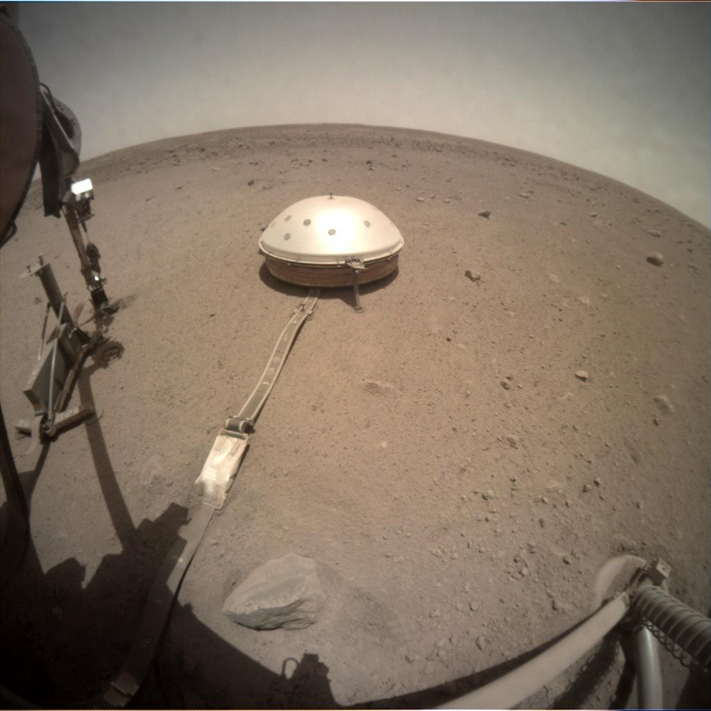 Nasa's Mars lander InSight acquired this image using its Instrument Context Camera on Sol 491