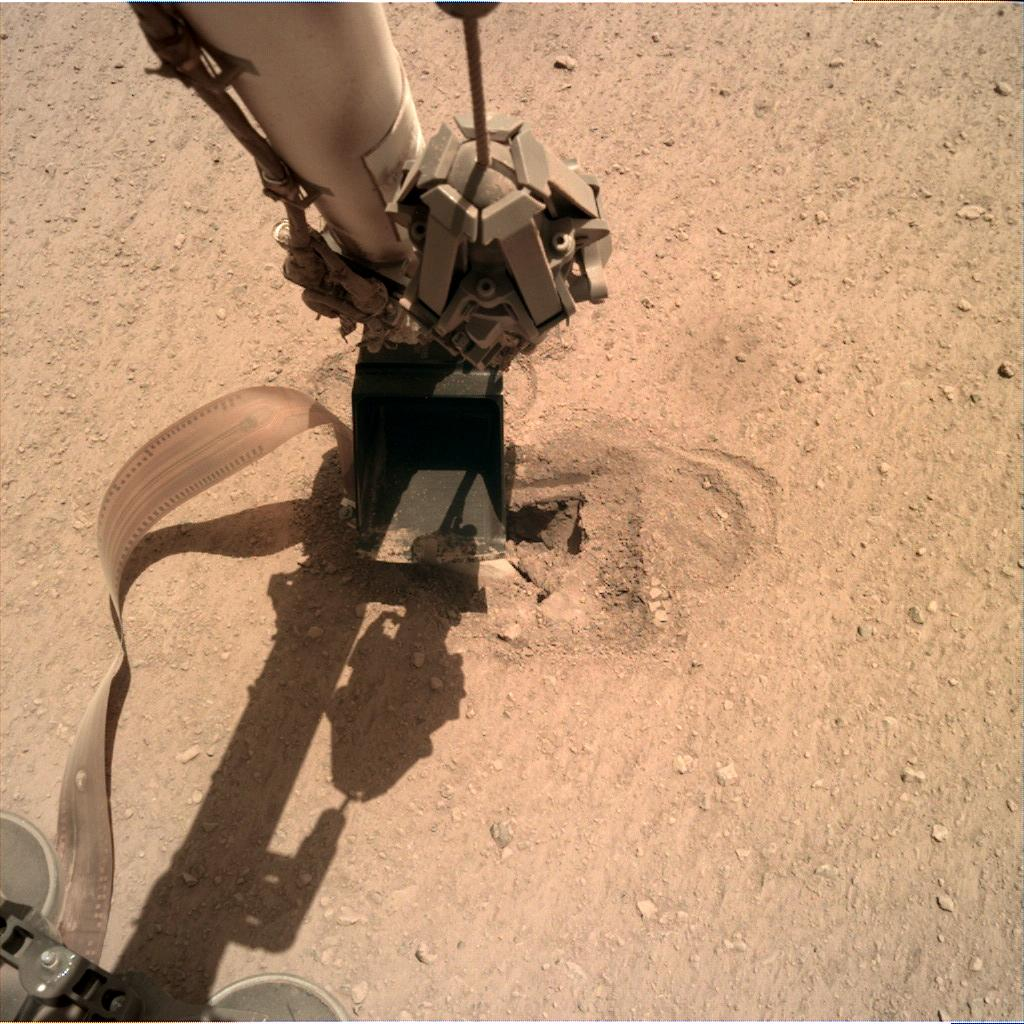 Nasa's Mars lander InSight acquired this image using its Instrument Deployment Camera on Sol 491