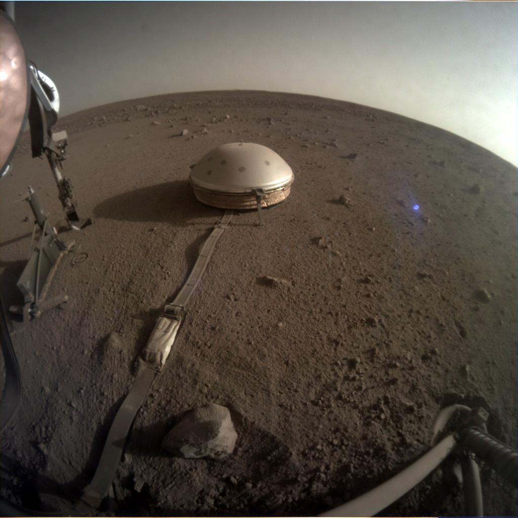 Nasa's Mars lander InSight acquired this image using its Instrument Context Camera on Sol 492