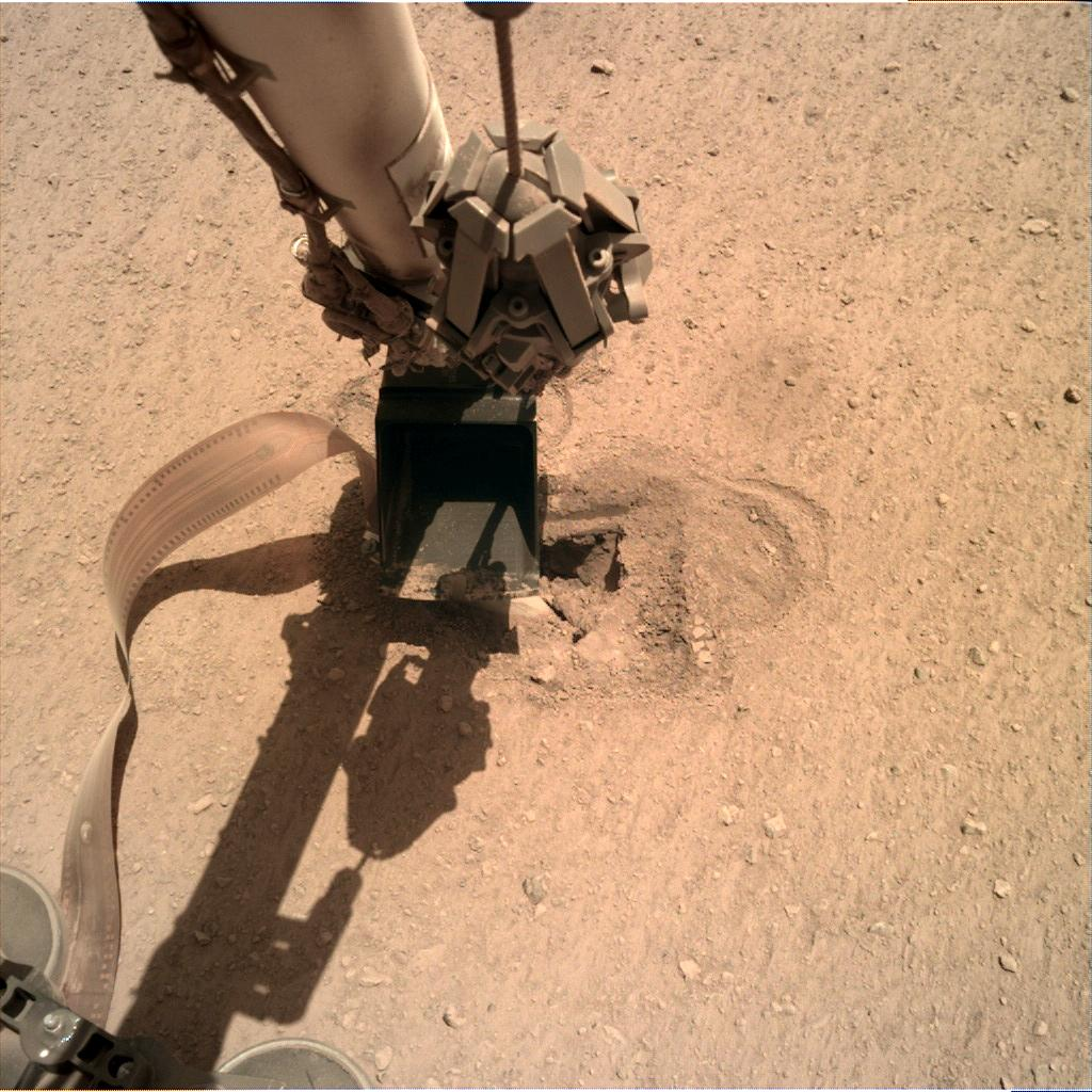 Nasa's Mars lander InSight acquired this image using its Instrument Deployment Camera on Sol 493