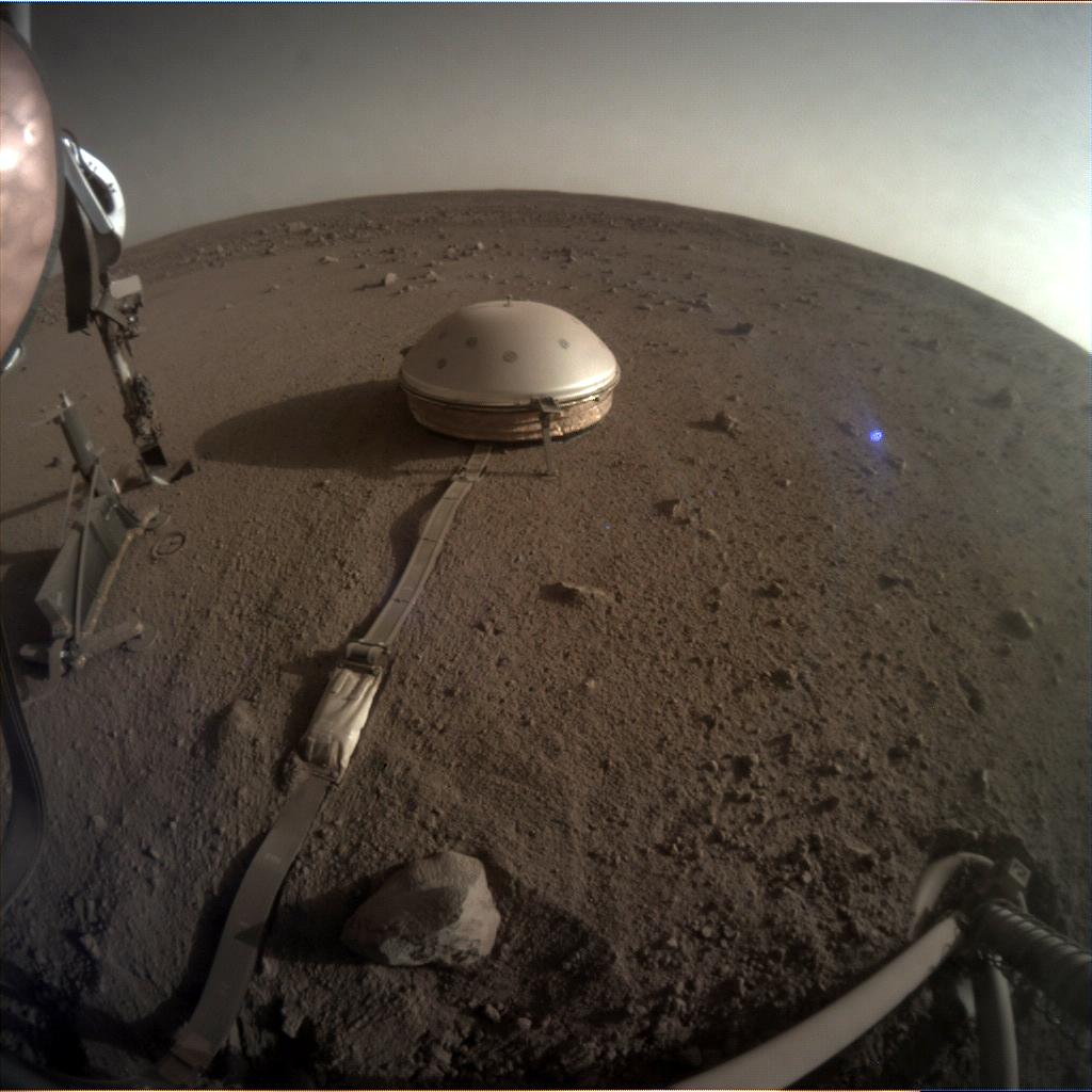 Nasa's Mars lander InSight acquired this image using its Instrument Context Camera on Sol 494