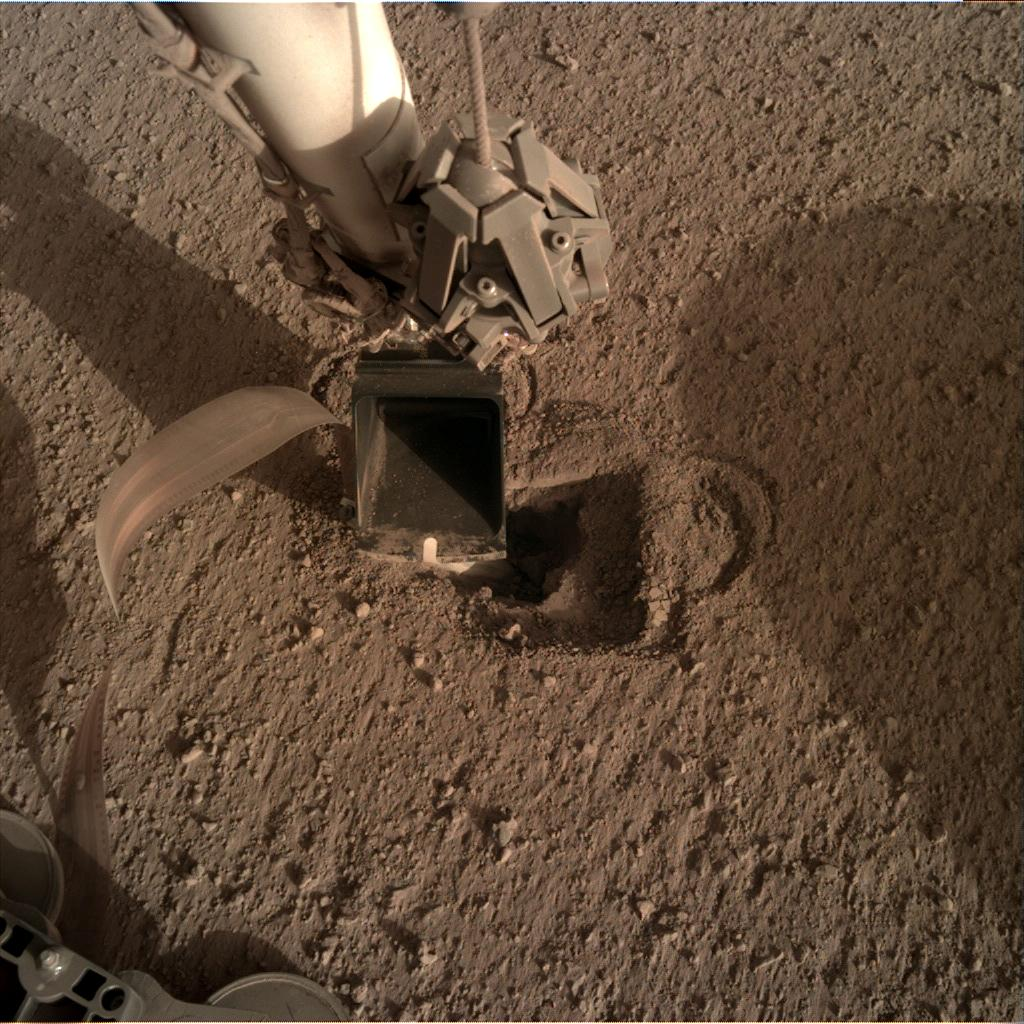 Nasa's Mars lander InSight acquired this image using its Instrument Deployment Camera on Sol 495