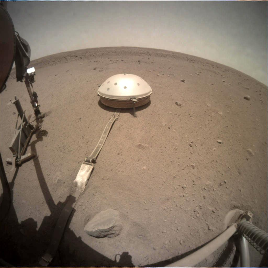 Nasa's Mars lander InSight acquired this image using its Instrument Context Camera on Sol 501