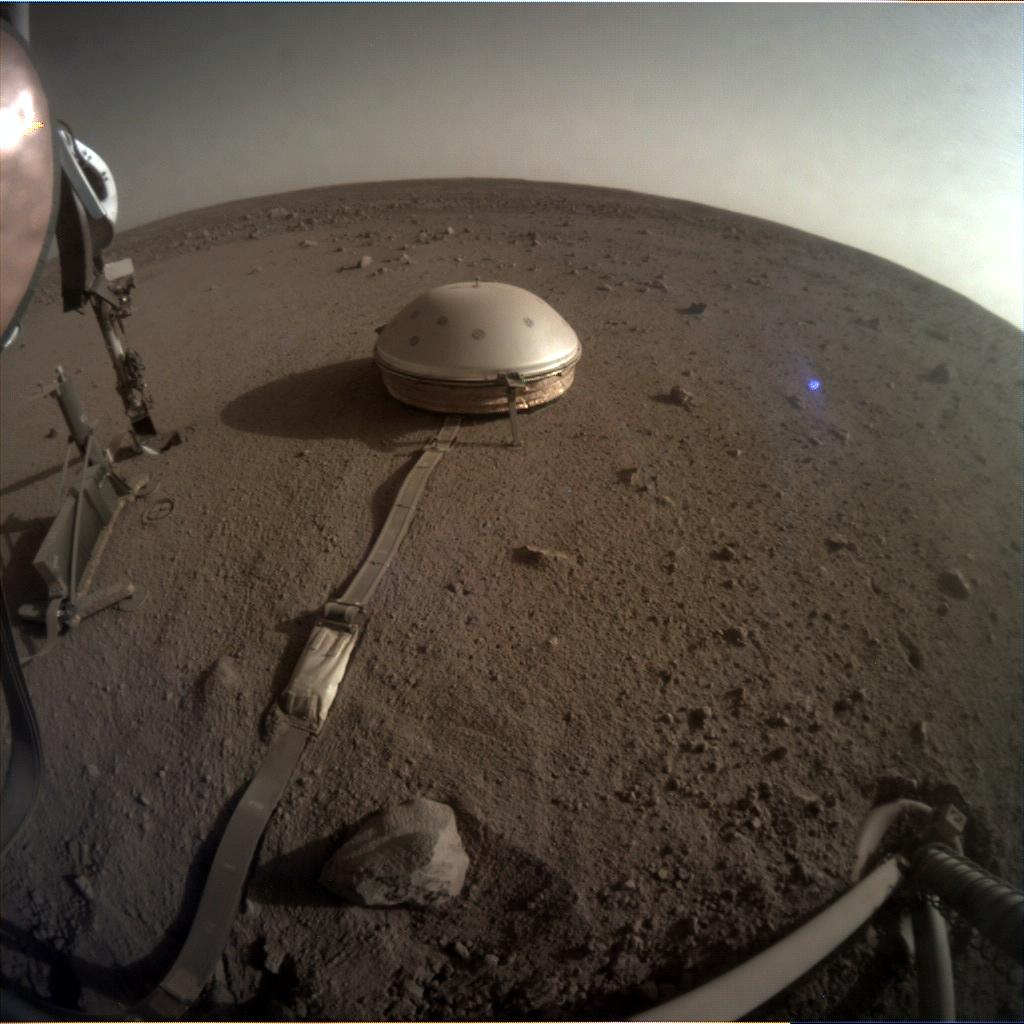Nasa's Mars lander InSight acquired this image using its Instrument Context Camera on Sol 502