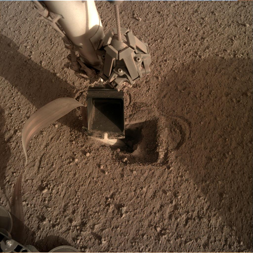 Nasa's Mars lander InSight acquired this image using its Instrument Deployment Camera on Sol 502