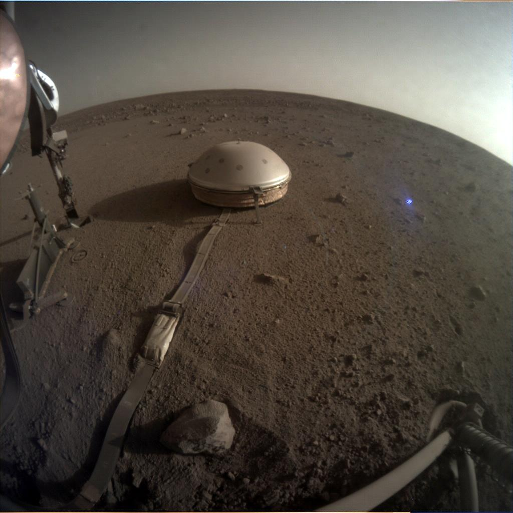 Nasa's Mars lander InSight acquired this image using its Instrument Context Camera on Sol 503